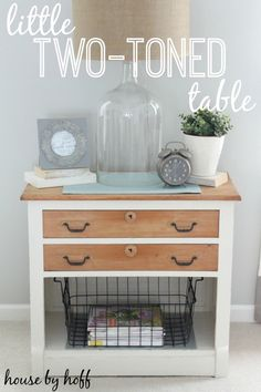 Two-Toned Table Makeover - House by Hoff