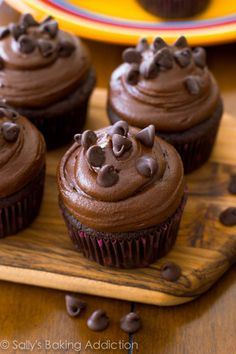 Death by Chocolate Cupcakes. by Sally's Baking Addiction