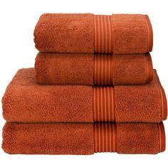 Christy Supreme Hygro Towel - Paprika - Bath Sheet (165 PLN) ❤ liked on Polyvore featuring home, bed & bath, bath, bath towels, orange, orange bath towels and christy bath towels