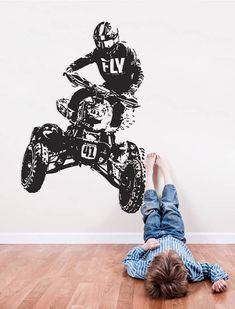 Motocross Wall Decal Dirt Bike Wall Sticker Motorsport Enduro Bike