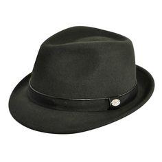 Sombrero ala corta olive