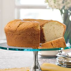 Million Dollar Pound Cake from Southern Living.  This is the BEST & once you read the Ingredients ~ you know why: Ingredients -- 1 pound  butter, softened -- 3 cups  sugar -- 6   large eggs -- 4 cups all-purpose flour -- 3/4 cup milk -- 1 teaspoon  almond extract -- 1 teaspoon  vanilla extract. Follow directions on web site.