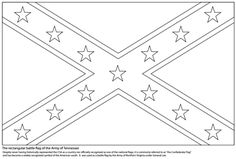 Battle Flag of The Confederate States of America coloring page ... | 159x236