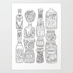 Pickles Print Art Print by Brooke Weeber - $16.00