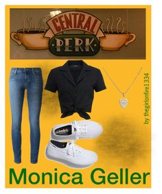 """""""Monica Geller"""" by thegirlonfire1334 ❤ liked on Polyvore featuring J Brand, Hallhuber, Keds and Tiffany & Co."""