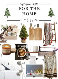 Holiday Gift Guide // HOME  The perfect holiday gift guide for the home decor lover