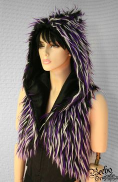 Party in purple Hoodie Vest by BeeboOriginals on Etsy, $90.00