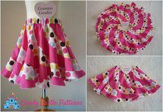 (9) Name: 'Sewing : Peppermint Swirl Skirt Hack- Tutorial