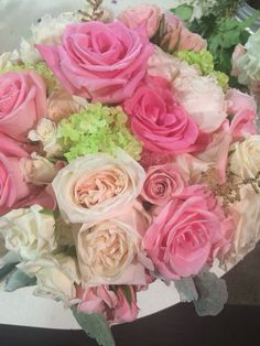 Beautiful lush bridal bouquet in pinks!!!   #thewillowsbywehr #youngstown weddings