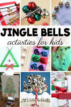 Jingle bell activities for kids! Jingle bells can be an awesome learning tool for preschool and kindergarten - check out these sensory, math, fine motor, and other learning activities for kids! They're sure to be a hit at Christmastime or all year round. Educational Activities For Preschoolers, Preschool Christmas Activities, Motor Activities, Sensory Activities, Christmas Crafts For Kids, Christmas Goodies, Toddler Activities, Preschool Activities, Christmas Ideas