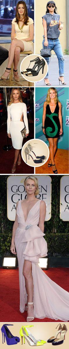 Bom dia, Oui Lovers! No blog: 'Ankle Strap Shoes', os sapatos com amarração (ou presilha) no tornozelo que estão com tudo. Confiram!