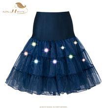 SISHION Tutu Skirt High Waist Sexy Tulle Petticoat Dance Performance Colorful LED Up Neon Fancy Rainbow Christmas Women Skirts //FREE Shipping Worldwide //