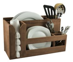 SeaTeak Dish/Cup/Utensil Holder 62404 - Sandie's Galley & More