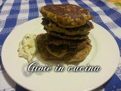 Pancakes salati zucchine, patate e speck