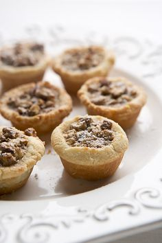 One Bite Pecan Pies - Gluten Free - unsalted butter - 8 oz. Kinds Of Desserts, Just Desserts, Delicious Desserts, Dessert Recipes, Gluten Free Sweets, Gluten Free Cooking, Gluten Free Recipes, Easy Eat, Pecan Pies
