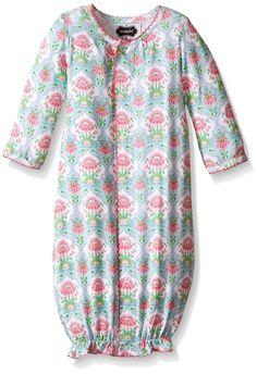 Mud Pie Baby Spring Garden Convertible Sleep Gown, Multi, 0-3 Months