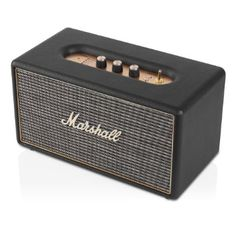 Marshall Stanmore Bluetooth Speaker System. I so want this for the kitchen!