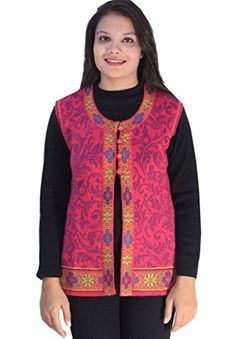 Women Clothing - Romano Womens Beautiful Red Sleeveless Winter Woollen Sweater Cardigan M1559A_XL XLarge Red ** More info could be found at the image url.