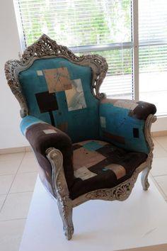 L 39 fauteuil louis phillippe relooker et corset fauteuil - Meuble louis xv relooke ...