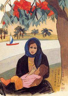 (Korea) Woman Nail riverside, Egypt 1974 by Chun Kyung-ja (1924-2015).