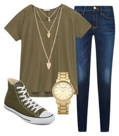 """""""kaki"""" by sabichoux1427 ❤ liked on Polyvore featuring Lee, Converse, Forever 21 and Topshop"""