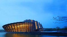 Unique architecture of Wuzhen theater in China