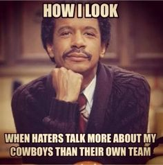 Win or lose, we love our Cowboys! And babe & I laugh all day at how much all the haters have the big D in their mouth before, during and after EVERY single Cowboys game! Dallas Cowboys Quotes, Dallas Cowboys Pictures, Dallas Cowboys Football, Cowboys 4, Football Team, Cowboys Wreath, Nfl Memes, Football Memes, Football Season