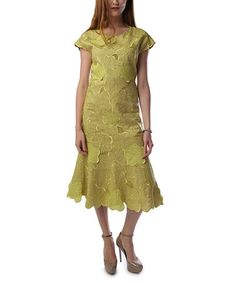 Another great find on #zulily! Lime Leaf Linen Midi Dress - Women & Plus #zulilyfinds