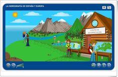 """""""La hidrografía de España y de Europa"""" es una aplicación, de la plataforma Agrega, en la que, mediante exposiciones y actividades interactivas, se trata el aprendizaje sobre la hidrografía española y europea."""