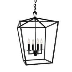 Matte Black Four Light 18 Inch Pendant Norwell Lantern Pendant Lighting Ceiling Lighting