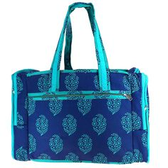 Quilted Print Travel Bag with Waterproof and 3 Pockets - Perfect for Shopping -- Read more  at the image link. (This is an Amazon Affiliate link and I receive a commission for the sales)