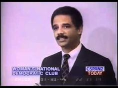"""YOU MUST WATCH THIS!!! 3 minutes!!!! Eric Holder 1995  """"We must Brainwash People To Be Against Guns""""..[He also read """"Mein Kampf"""" and other socialist materials..csw]"""