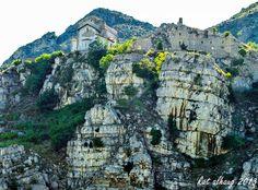 House on a rock, Albanian countryside.