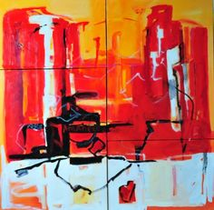 """""""Hot City"""" Acrylic on Canvas"""