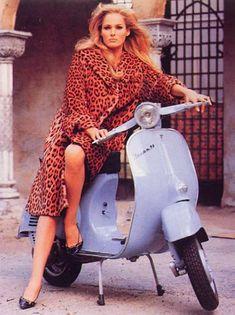 Vespa Ursula Andress 1965   Mad Men Art   Vintage Ad Art Collection