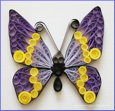 Cute Butterfly Filigrana en Papel