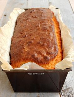 Food for thought: Αλμυρό κέικ με αλεύρι καλαμποκιού και τυρί φέτα