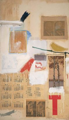 Robert Rauschenberg - 1957, Factum II. Combine: oil, ink, pencil, crayon, paper, fabric, newspaper, printed reproductions, and printed paper on canvas (155.9 x 90.2 cm) MOMA