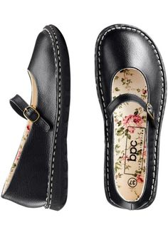 Кожаные туфли Мэри Джейн, bpc bonprix collection, черный Магазины,  Балерины, Желание, a7ef565b94f