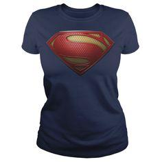 Official Superman Man of Steel Logo T Shirt | Buy at https://www.sunfrog.com/Superman-Man-of-Steel--Ladies.html?6987