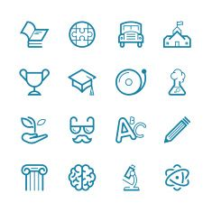 View top-quality illustrations of Education Set Line Icon Series. Find premium, high-resolution illustrative art at Getty Images. Free Vector Graphics, Free Vector Images, Vector Art, Brain Icon, Science Icons, Education Icon, Line Icon, Free Illustrations, Icon Set