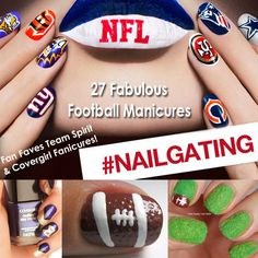 27 Football Nail Art Inspirations, & Covergirl Fun Team Fanicures!