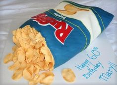 It's a cake with ruffles made of fondant!