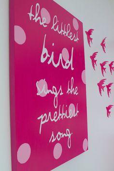 YW design night- diy canvas and birds