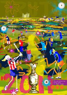 Truth, Strength & Victory. The 2011 Solheim Cup. Limited Edition Print.