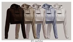 Elliesimple - Gymshark Hoodie - The Sims 4 Download - SimsDomination Sims Four, The Sims 4 Download, Sims 4 Cc Finds, Yoga Bra, Ts4 Cc, Sims 4 Mods, Sims 4 Custom Content, Sims Cc, Playsuits