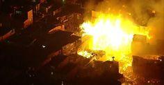 RS Notícias: Incêndio de grandes proporções atinge favela em Sã...