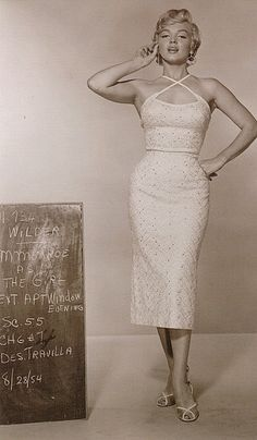 "Costume Test of Marilyn in ""The Seven Year Itch"" by thefoxling, via Flickr"