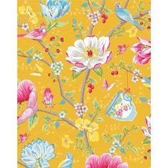 Tapet Chinese Garden Yellow