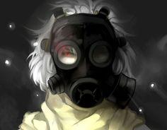 anime gas mask | DRAMAtical Murder Clear dark apocalyptic gas mask g wallpaper ...